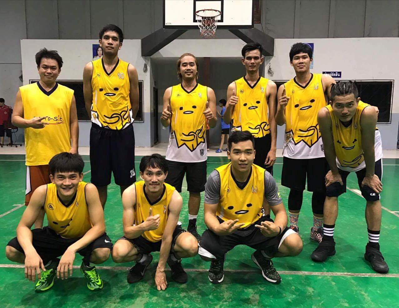 Yellow Basketball Jersey ทีมแข่งขันทัวร์นาเม้นท์ เสื้อโทนสีเหลือง