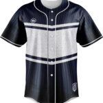 เสื้อเบสบอลพิมพ์ลาย น้ำเงิน Luxury Blue