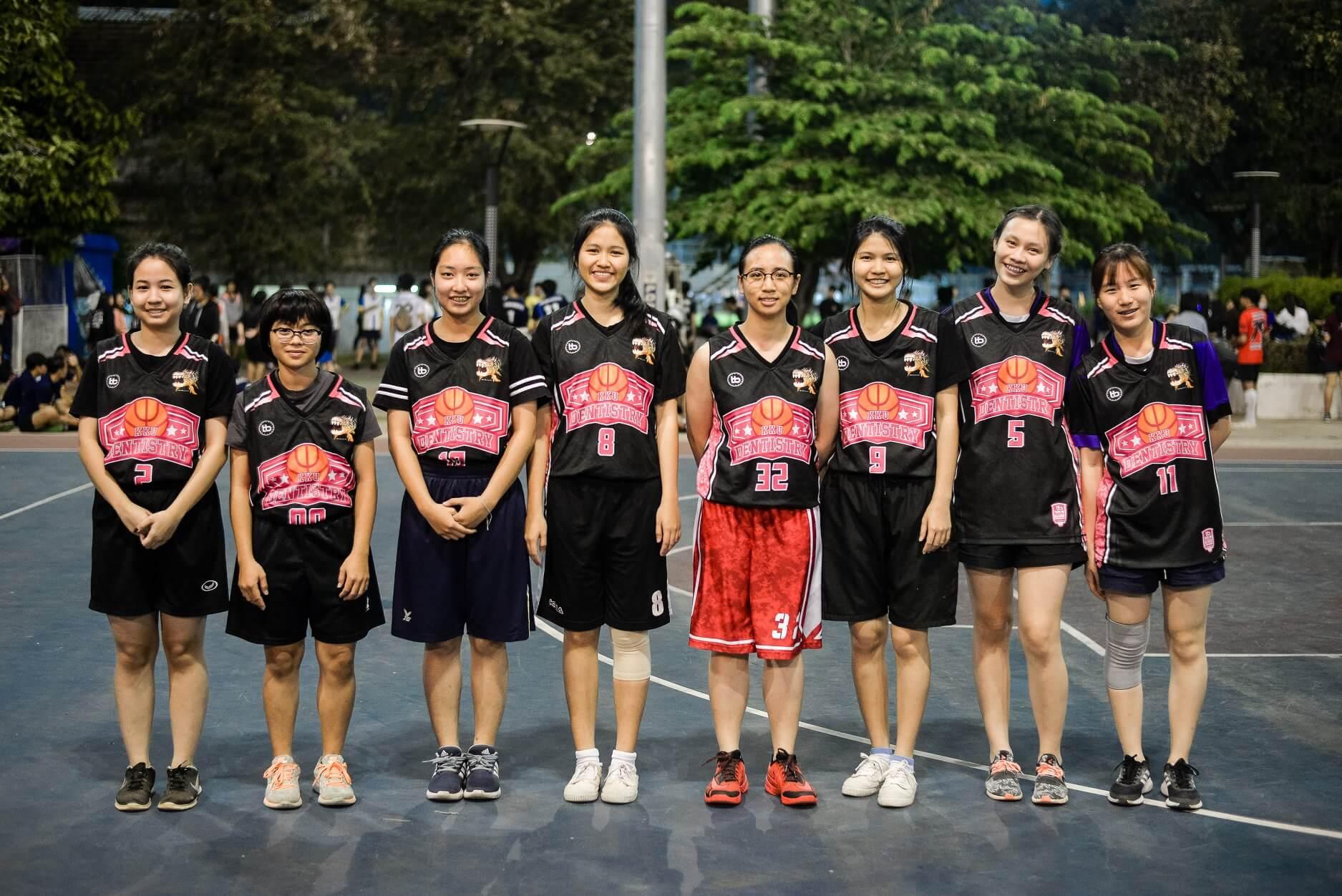 ตัดชุดบาส เสื้อบาสพิมพ์ลาย เสื้อบาสเกตบอล nba jersey ผลิตเสื้อกีฬา Review เสื้อบาส DEN KKU หญิง