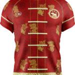 เสื้อโปโลพิมพ์ลาย แดง Spring Festival