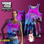 เสื้อบาสพิมพ์ลาย NBA Dwyane Wade